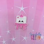 Kawaii Easel Feltie ITH Embroidery Design 4x4 hoop (and larger)