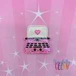 Kawaii Typewriter Feltie ITH Embroidery Design 4x4 hoop (and larger)