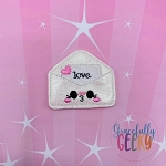 Kawaii Love Letter Feltie ITH Embroidery Design 4x4 hoop (and larger)