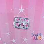 Kawaii Blister Capsule Feltie ITH Embroidery Design 4x4 hoop (and larger)