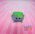 Kawaii Cauldron Stuffie Embroidery Design - 5x7 Hoop or Larger