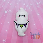 Kawaii Eek Ghost Stuffie Embroidery Design - 5x7 Hoop or Larger