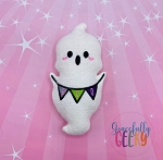 Kawaii Boo Ghost Stuffie Embroidery Design - 5x7 Hoop or Larger