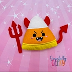 Kawaii Devil Candy Corn Stuffie Embroidery Design - 5x7 Hoop or Larger