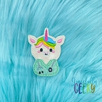 Nurse Unicorn Feltie ITH Embroidery Design 4x4 hoop (and larger)