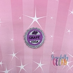 Grape Soda Feltie ITH Embroidery Design 4x4 hoop (and larger)