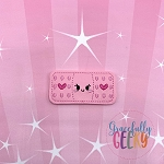 Kawaii Bandaid Feltie ITH Embroidery Design 4x4 hoop (and larger)