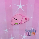Kawaii Liver Feltie ITH Embroidery Design 4x4 hoop (and larger)