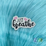 Just Breathe Feltie ITH Embroidery Design 4x4 hoop (and larger)