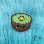Kawaii Kiwi Feltie ITH Embroidery Design 4x4 hoop (and larger)