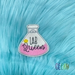 Lab Queen Feltie ITH Embroidery Design 4x4 hoop (and larger)