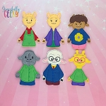 Llama finger puppet set - Embroidery Design
