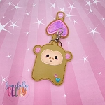 Monkey Sanitizer Holder Embroidery Design - 5x7 Hoop or Larger