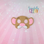 Mouse Mask Embroidery Design - 5x7 Hoop or Larger