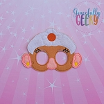 Potato Girl Toy Mask Embroidery Design - 5x7 Hoop or Larger