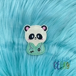 Nurse Panda Feltie ITH Embroidery Design 4x4 hoop (and larger)