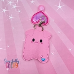 Piggy Sanitizer Holder Embroidery Design - 5x7 Hoop or Larger