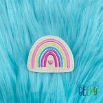 Rainbow 5 Feltie ITH Embroidery Design 4x4 hoop (and larger)