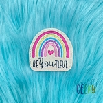 Rainbow BeYouTiful Feltie ITH Embroidery Design 4x4 hoop (and larger)