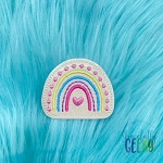 Rainbow Dots Feltie ITH Embroidery Design 4x4 hoop (and larger)