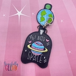 Need Space Sanitizer Holder Embroidery Design - 5x7 Hoop or Larger