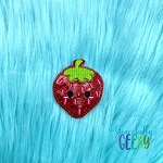 Kawaii Strawberry Feltie ITH Embroidery Design 4x4 hoop (and larger)