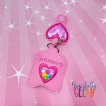 Sweethearts Sanitizer Holder Embroidery Design - 5x7 Hoop or Larger