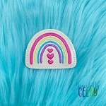 Rainbow Hearts Feltie ITH Embroidery Design 4x4 hoop (and larger)
