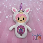 Unicorn Kid Stuffie Embroidery Design - 5x7 Hoop or Larger