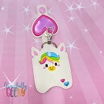 Unicorn Sanitizer Holder Embroidery Design - 5x7 Hoop or Larger