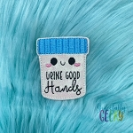 Urine Good Hands Feltie ITH Embroidery Design 4x4 hoop (and larger)