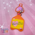 Valentina Sanitizer Holder Embroidery Design - 5x7 Hoop or Larger