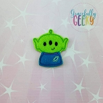 Alien Toy Feltie ITH Embroidery Design 4x4 hoop (and larger)