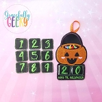 Pumpkin Countdown to Halloween Embroidery Design - 5x7 Hoop or Larger