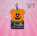 Pumpkin Mouse Countdown to Halloween Embroidery Design