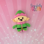Elf Felt Stuffie Embroidery Design - 5x7 Hoop or Larger