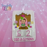Elves Only Elf Countdown to Christmas Embroidery Design