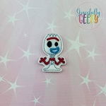 Sporky Toy Feltie ITH Embroidery Design 4x4 hoop (and larger)