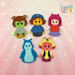 Music Bugs finger puppet set - Embroidery Design
