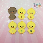 Little Ducks finger puppet set - Embroidery Design