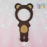Girl Bear Costume Dress Up Outfit ONLY - Embroidery Design 5x7 hoop or larger