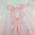 Boy Bunny Dress Up Outfit ONLY - Embroidery Design 5x7 hoop or larger