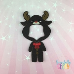 Boy Reindeer Pajamas Dress Up Outfit ONLY - Embroidery Design 5x7 hoop or larger