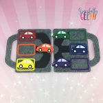 Car Color Match Learning Felt Travel Board ITH Design 5x7 Hoop or Larger
