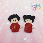 China Children finger puppet set - Embroidery Design