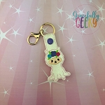 Floral Llama Snap Keychain ITH Embroidery Design - 5x7 Hoop or Larger