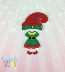 Girl Christmas Dress up Outfit 1 - Embroidery Design 5x7 hoop or larger