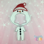 Girl Snowman Pajamas Dress Up Outfit ONLY - Embroidery Design 5x7 hoop or larger