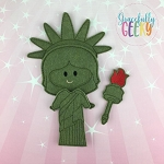 Liberty Girl Dress up Doll  - Embroidery Design 5x7 hoop or larger