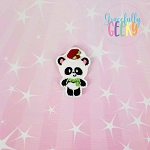 Panda 4 Feltie ITH Embroidery Design 4x4 hoop (and larger)